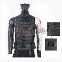 Custom made Anime America Movie Captain America The Winter Soldier James Buchanan Barnes Bucky Outfit Cosplay Costume