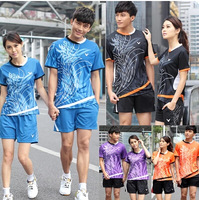 2014 Victor fashion badminton sports wear Badminton Team Jerseys sports set shirt+short