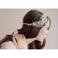 2014 limited real floral adult hair band headband hair bows wedding headdress tiara bridal bride crystal handmade props shooting