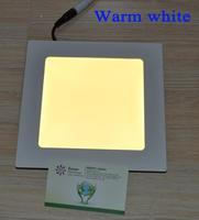 Hot Room Stroe Super Market 6W Square led panel light ceiling Super Bright Warm White Light AC85-265V