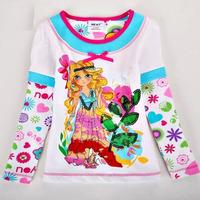 Retail Girl Baby Clothes Fashion 19-24M Girl Spring&Autumn T-shirt Cotton Baby Clothing Cartoon Blouse 1pc Free shippingTYT-1441