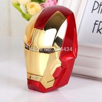 Newest Iron Man design power bank 8000mah external battery pack universal USB phone charger 5pcs/lot