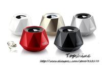 2014 New  Diamond Design stereo music portable Bluetooth speaker mini fashion Hifi speaker 5 colors in stock withe free shipping