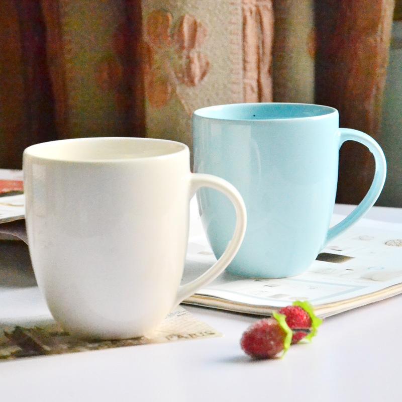 DE 1pc 10cm High quality porcelain Japanese minimalist tone ceramic fat milk coffee tea large cup handle 2 color gift(China (Mainland))