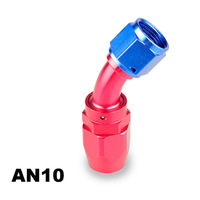 High Performance Wholesale 10AN 45 degree reusable hose end fuel line hose end AN 10 fitting adaptor cutter shape