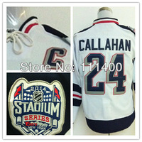 Free shipping Mens #24 Ryan Callahan White 2014 Stadium Series New Season Authentic Ice Hockey Jersey size: 48-56 can mix order