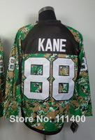 Free shipping Mens #88 Patrick Kane CAMO 2014 Authentic Ice Hockey Jersey size: 48-56 can mix order