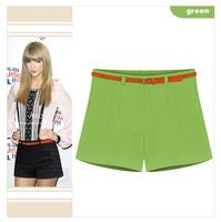2014 New Fashion Candy Color Leisure shorts Women's summer Korean plus size Short Pants