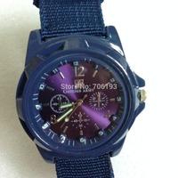 10pcs/lot Unisex Stylish Quartz Analog Watch with Nylon Strap Men and Women Wristwatches