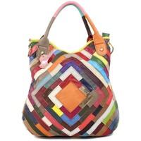 Wholesale 2014 new genuine leather handbag Sheepskin splicing female bag handbag inclined shoulder bag Chromatic stripe bag