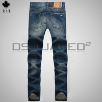 28-36#KPDSQ7008,2014 Fashion Famous Brand D2 Jeans Men,High Quality Ripped Jeans For Men,Dark Color Cotton Denim True Jeans Men