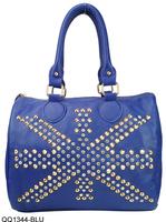 2 Color 2014 New Free Shipping Silt Pocket Studded Design Ladies Handbag PU Leather Bag For Women VK1344