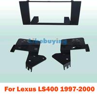 2 din carro fascia / Car Fascia Panel / Audio Panel Frame / Car Dash Kit For Lexus LS400 1997 1998 1999 2000 Free Shipping
