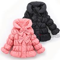 2014 New Super Meng princess coat  Girls fashion bow jacket  Autumn baby clothes  Children's winter jackets