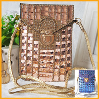 2014 New Women Mini Small Reiko Cross-body Messenger Polyurethan Bag  Diamond package Handbag Famous Brands Bag Free Shipping