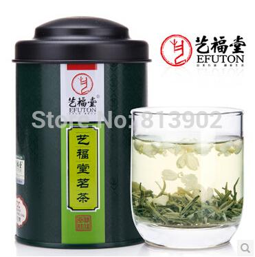 New Tea 50g China Green Tea 100% organic tea fragrant type snow jasmine flavor loose tea with free shipping(China (Mainland))
