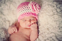 Free shipping crochet Newborn baby girl flower hat,Pink hat with flower,Handmade hat for baby girl photo props,baby hat