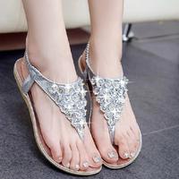 Size 34-40 new 2014 summer shoes woman sandal women sandal for women flats flip flops Wedges sandal Girl women  sandy beach
