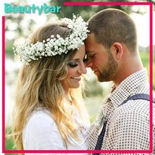 Hot Sale New Hair Garland and Bracelet  Beach Bride&Bridesmaid Wedding Wreath Floral Flower Festival Holiday  Headband