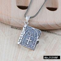 925 Pure Silver  Thai silver.Bible Crucifix  Opens  Ms. New Pendant xh044499w