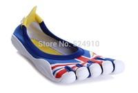 hot sale 5 fingers men women toe hiking shoes magic button outdoor climbing shoe sports Runner jogger sneakers flag 07213