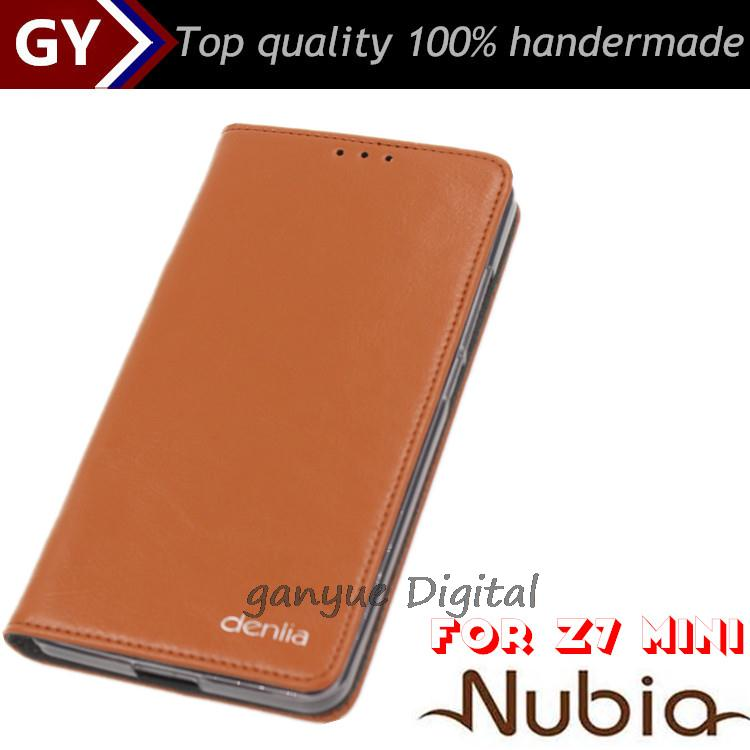 New Arrival Original Flip Case For ZTE Nubia Z7 Mini 5 Color High Quality Cell Phone Case z7 mini genuine leather cover(China (Mainland))