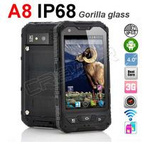 original Alps A8 waterproof smartphone MTK6572 Dual Core Android 4.2 Gorilla glass IP68 Dustproof Shockproof cellphone GPS 3G