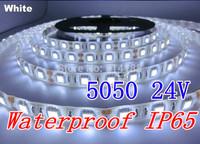 5m 300 LED 5050 SMD 24V flexible light 60 led/m 5050 waterproof IP65 LED strip tape cool white