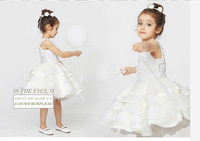 France design luxury hand made  new girl's princess wedding dress female Children's /baby girl new year party ball flower dress