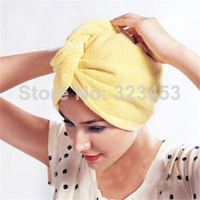 Free Shipping Hot Sale Microfiber Lady's Magic Hair Drying Towel/Hat/ Shower Cap Quick Dry Bath