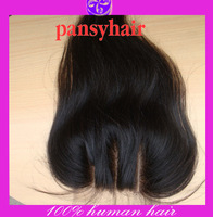 5x5 Bleached Knots PansyHair 3 Part Closure Free Part  Middle Part Lace Front Closure