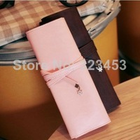 Vintage Strings Three layers simple stationery Make Up Cosmetic Brush School Student Pen Pencil Case Pouch Purse Bag