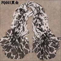 (Min order is $10) Fashion Brand Womens Scarfs Silk Chiffon Scarf Women's Ponchos And Capes Pashmina Scarf