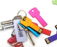 high quality key usb flash drive metal pen drive 100% full capacity 2gb 4gb 8gb 16gb 32gb pendrive thumb drive with keychain