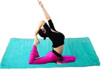 Exercise FIR  yoga mat with Coral Fleece,Coral Fleece Yoga  Warm up mat,Luxurious Sport relax pad.