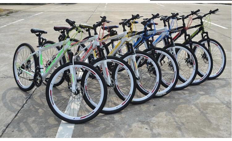 2014 hot One of the wheels Dual shock 21speed mountain bike disc brakes 26 inch folding bike man woman bicycle cycling x111(China (Mainland))