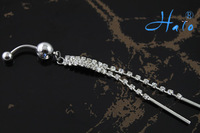 60pc/lot BJ00397 Free Shipping rhinestone belly button rings free shipping sexy body jewelry