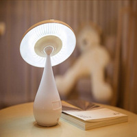 Attractive LED Reading Lamp Mushroom Table Lamp Night Light Novelty Table Lamp Mushroom Air Purification Lamp Free Shipping