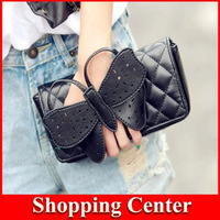 Freeshipping 2014 new Shoulder Designer Butterfly Bow-knot Clutch Purse Wristlet Evening Bag Chain Wallet Handbag Ladies Bags