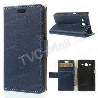 Free shipping 1pc/tvc-mall For Samsung Galaxy Core 2 Dual SIM G355H Flip Leather Wallet Stand Case