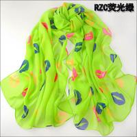 (Min order is $10) scarf women winter fashion style silk scarf polka velvet scarf chiffon Bohemia Scarf free shipping