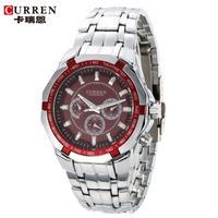 100% Original Curren Fashion Men Casual Watch Full Steel Watch Male Hours Clock Men Luxury Brand Business Sports Watches