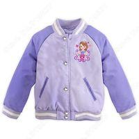 Retail Sofia Varsity  Coat Kids/Toddler Jacket  Girl Clothing  Raglan Sleeves Children Outerwear Autumn Winter Fit3-10 age C001