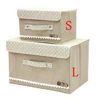 2014 New Print Storage Box Non-woven Fabric Organizer Box For Clothing,Toys, Sundries Multicolor Size S,L