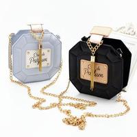 PU Perfume Bottle Chain Bag Tassel Bag Women Clutch Bag Tassel Desigual Ladies Handbag 2015 , 1819