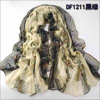 (Min order is $10) New fashion Grid trench plaid Brand Silk men burb chiffon seda print ring b rry shawl Long Scarves Women