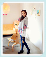 2014 50% discount Maternity pullover jacket Hitz pregnant deer pattern casual loose sweater coat big yards pregnant coat