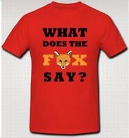 Men's Design Tees Shirts What Does The Fox Say  Ylvis Crazy Youtube T-Shirt  Custom Man Woman Boys T Shirts