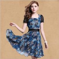 2014 New Arrvial Fashion Women's Summer Dress Dresses Brand Short Sleeve Women's Dresses