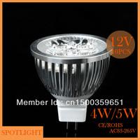 Free shipping(10pcs/lot) High power spotlight led MR16/ GU5.3 12v 4w/5w  LED energy saving lamp  LED spotlight free shipping